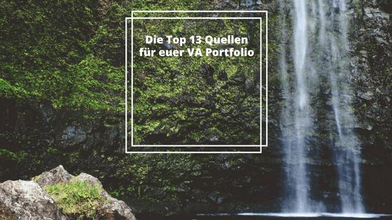 Die Top 13 Quellen für euer VA Angebot